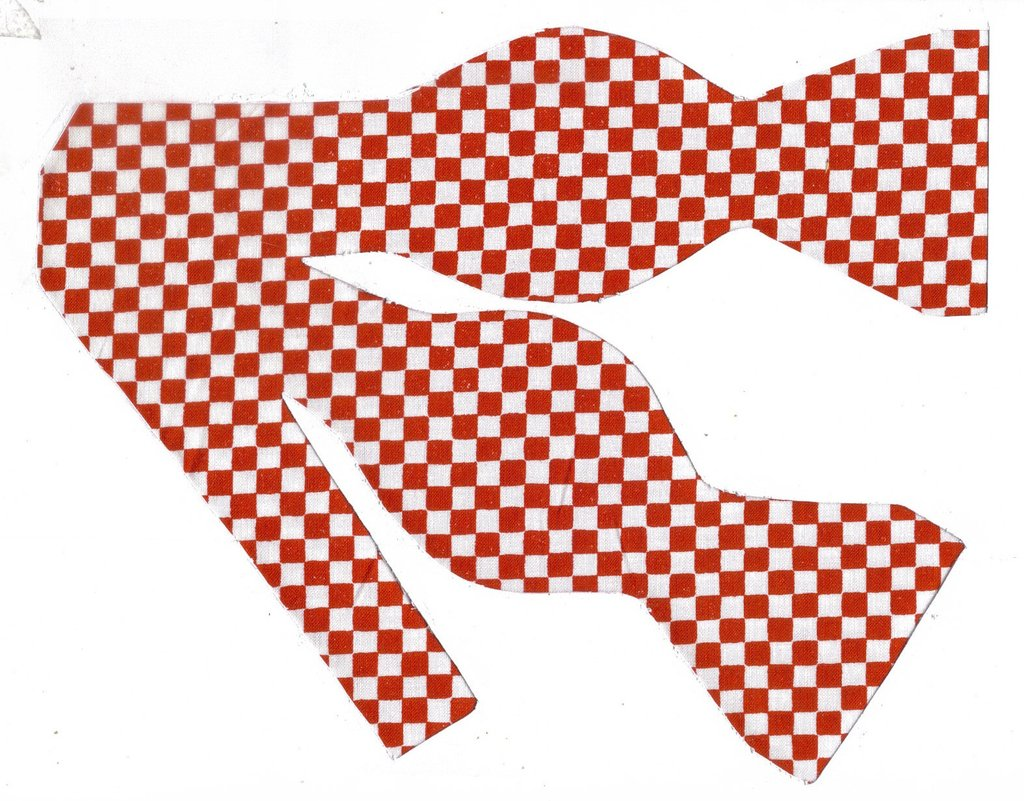 PICNIC CHECK BOW TIE - RED & WHITE 1/4\