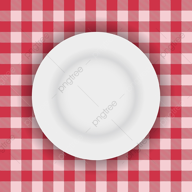 Plate On Table Cloth 0507, Gingham, Plaid, Texture PNG and ... vector transparent download