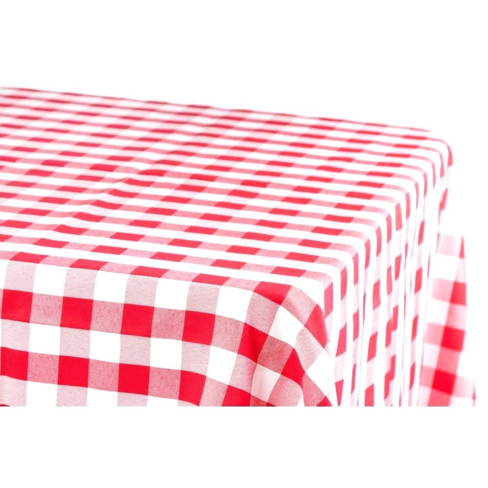 Red Checked Tablecloth White Plate Over Picnic And Checkered ... clip