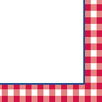 Luncheon Napkins $1.00 pkg/16 | camp_party | Checkered ... banner royalty free download