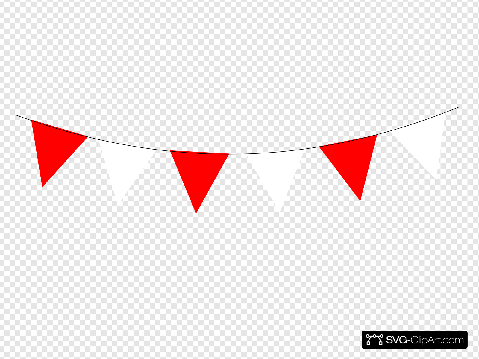 Red and white clipart vector black and white library Red And White Bunting Clip art, Icon and SVG - SVG Clipart vector black and white library