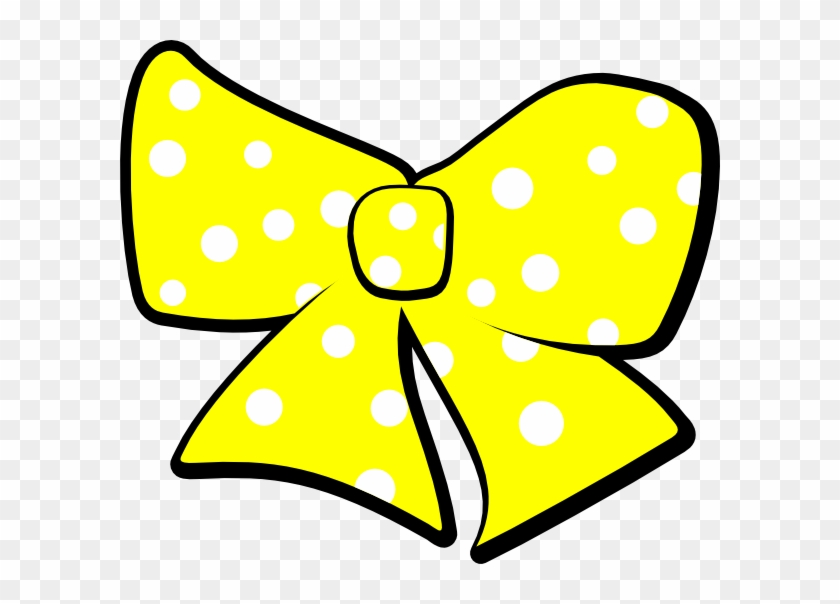 Bow Clipart Polka Dot - Yellow Hair Bow Clip Art, HD Png ... picture black and white library