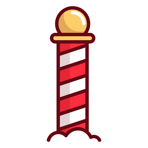 Red and white striped pole cartoon clipart graphic black and white stock Barber Shop Pole Clipart   Free download best Barber Shop ... graphic black and white stock