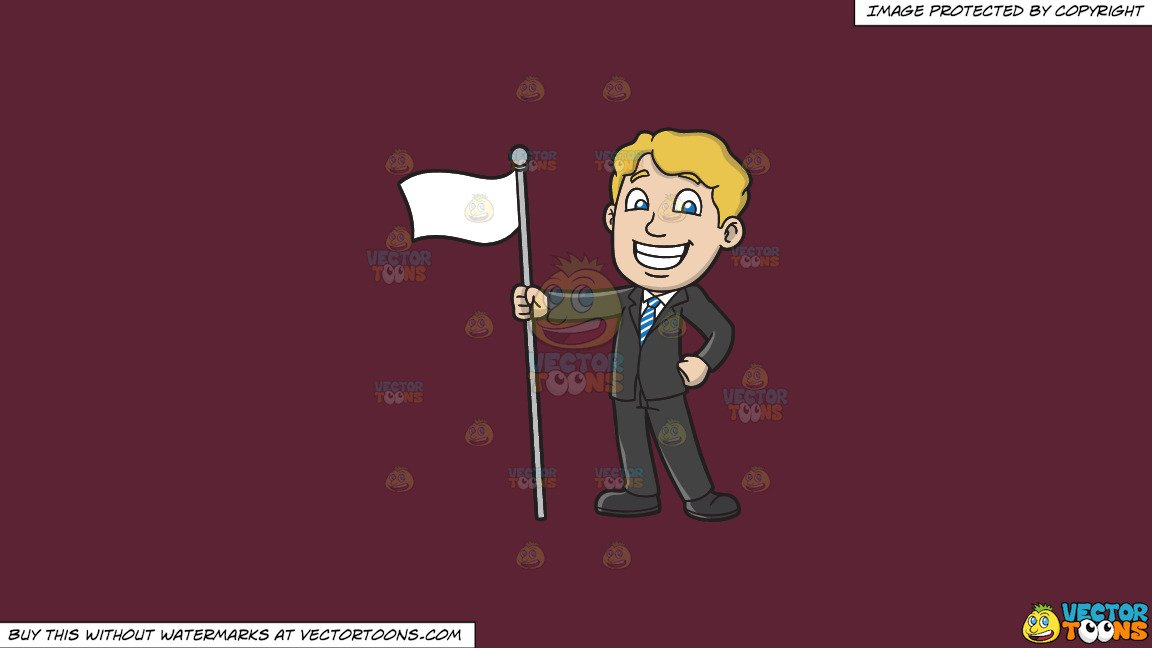 Red and white striped pole cartoon clipart clipart free stock Clipart: A Proud Man Holding A White Flag on a Solid Red Wine 5B2333  Background clipart free stock