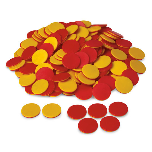 Red and yellow counters clipart clipart black and white Two-Color Counters clipart black and white