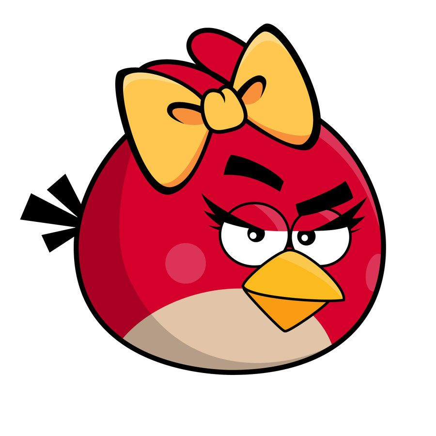 Red angery birds clipart b w simple banner royalty free stock Angry Bird - Girl | Angry Birds | Angry birds seasons, Angry ... banner royalty free stock