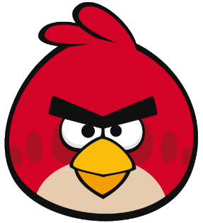 Red angery birds clipart b w simple clip free library How to draw Angry Birds | FeltMagnet clip free library