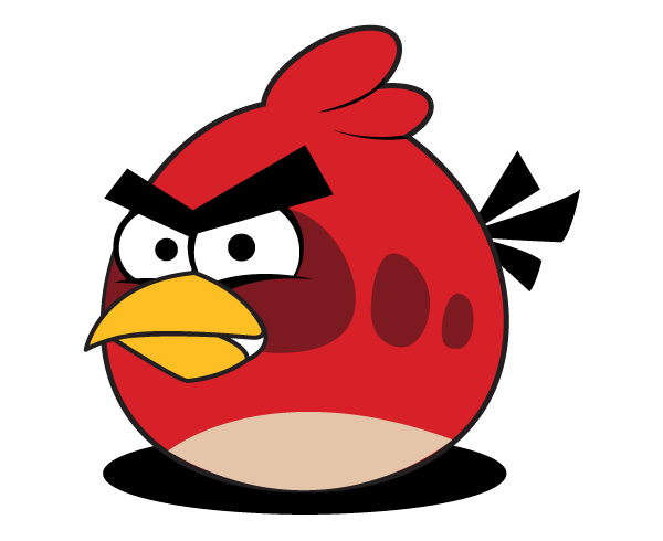 Red angery birds clipart b w simple clip stock Free Red Angry Bird Vector clip stock