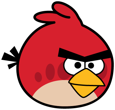 Red angery birds clipart b w simple clipart free download How to Draw Red Angry Bird from Angry Birds Games with Easy ... clipart free download