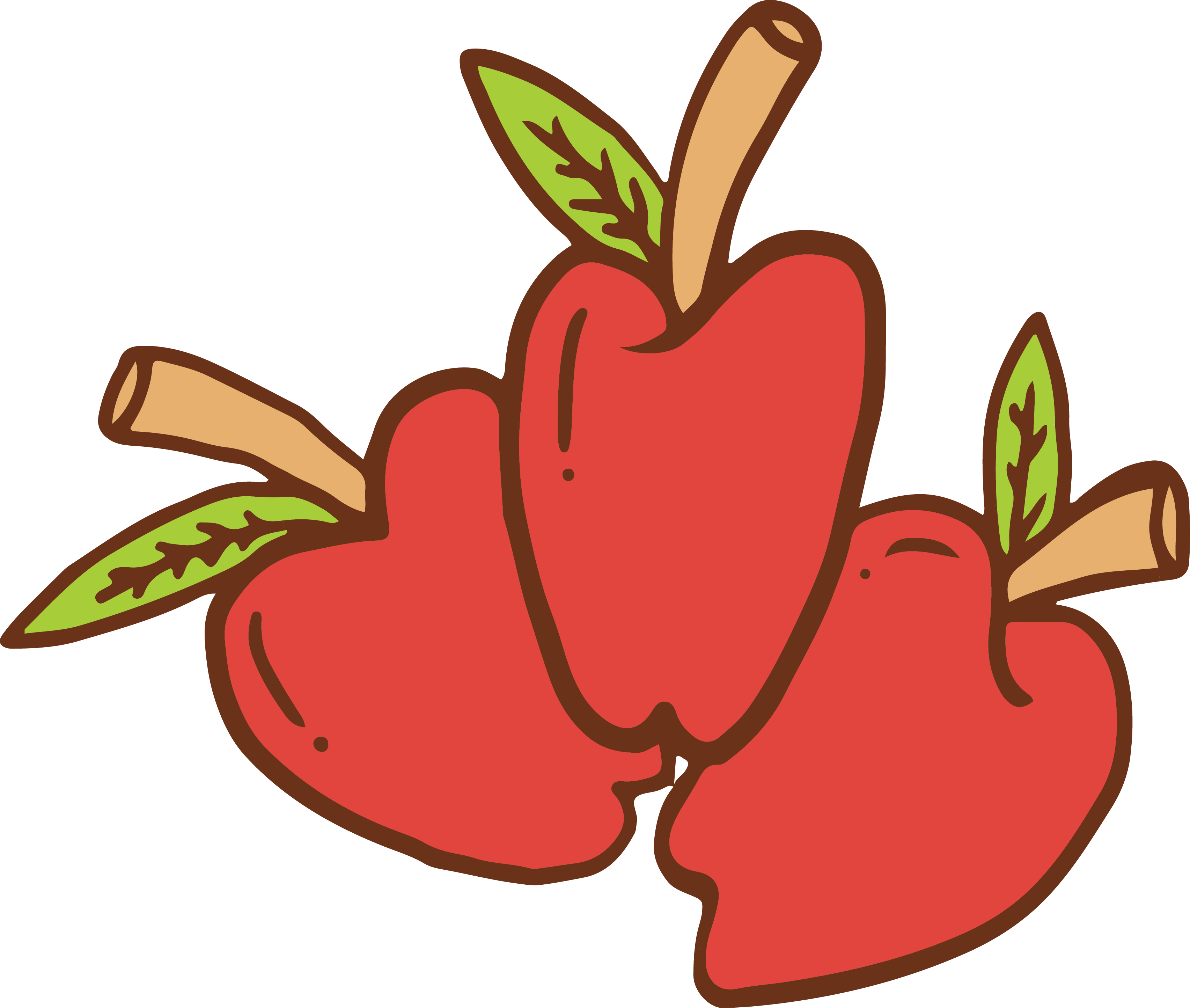 Red apple banana clipart jpg transparent library Apple Cartoon Drawing - Cartoon red apples 3408*2886 transprent Png ... jpg transparent library