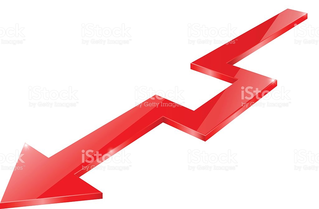 Red arrow graphic jpg free library Red Arrow Down Indication Arrow Statistic Financial Graphic stock ... jpg free library