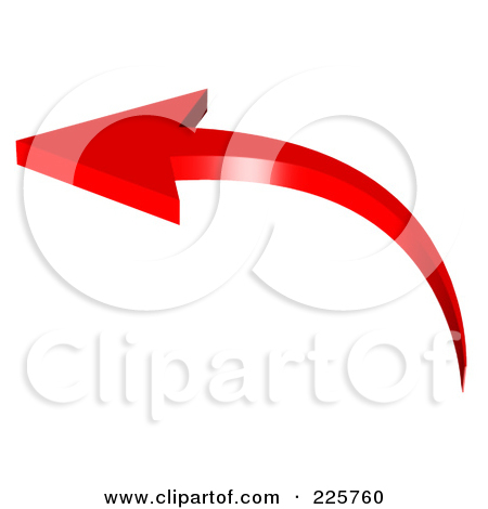 Red arrow pointing left png royalty free library Royalty-Free (RF) Clipart Illustration of a 3d Red Arrow Curving ... png royalty free library