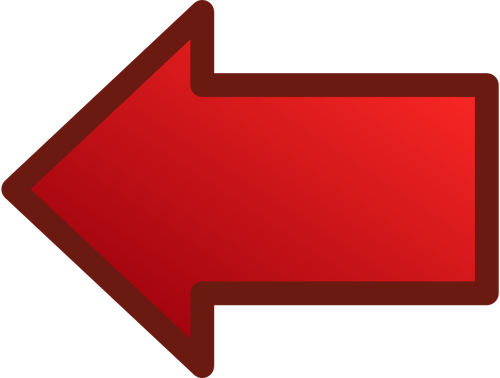 Red arrow pointing left transparent Red arrow pointing left vector drawing | Public domain vectors transparent