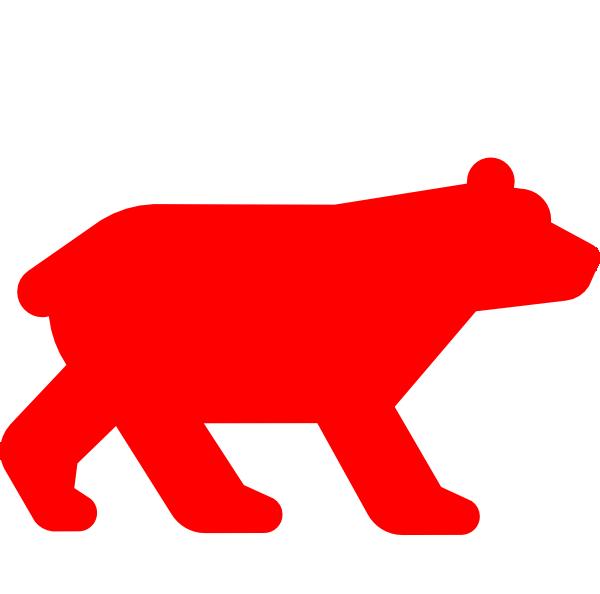 Red bear clipart png transparent download Red Bear Clip Art at Clker.com - vector clip art online ... png transparent download