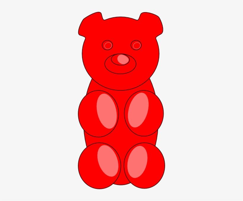 Red bear clipart clip art transparent Gummy Bear Outline Clip Art - Red Gummy Bear Clipart ... clip art transparent
