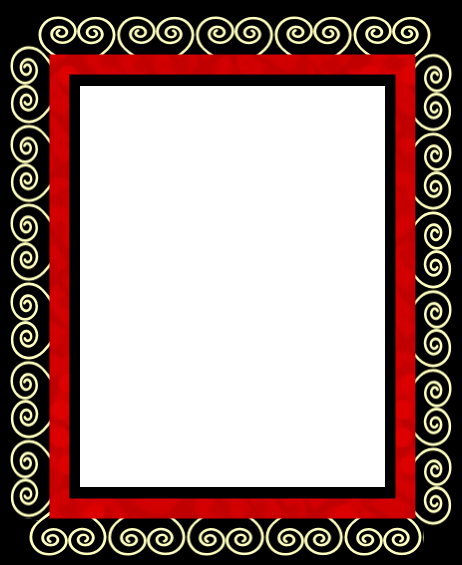 RED, BLACK AND WHITE   FRAMES / BORDERS / CORNERS   Black ... vector transparent stock