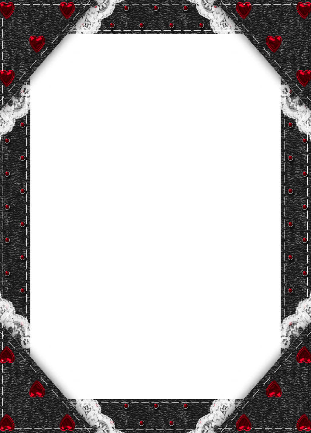 Black Transparent Frame with Red Hearts   Gallery ... vector download