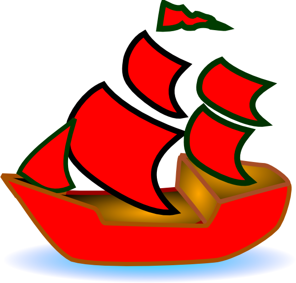 Red boat clipart graphic transparent stock Red Boat Clip Art at Clker.com - vector clip art online ... graphic transparent stock