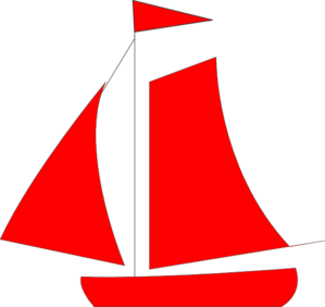 Red boat clipart jpg freeuse library Red Sail Boat Clip Art at Clker.com - vector clip art online ... jpg freeuse library