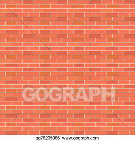 Red brick wall clipart picture royalty free download Vector Art - Red brick wall. Clipart Drawing gg78205086 ... picture royalty free download
