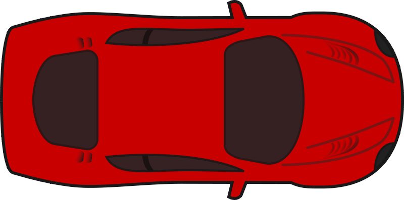 Free Clipart: Red racing car top view | qubodup clip freeuse