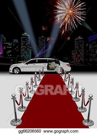 Red carpet clipart limousine picture royalty free library Stock Illustration - Limo red carpet. Clipart Drawing ... picture royalty free library