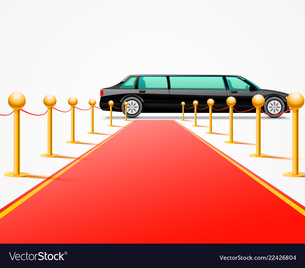 Red carpet clipart limousine clipart transparent Red event carpet isolated on a white background vector image clipart transparent