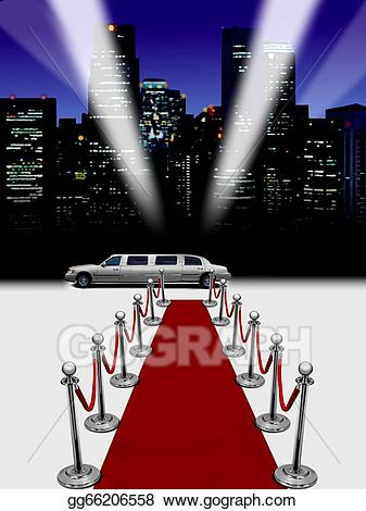 Red carpet clipart limousine banner library Clipart - Limo and red carpet. Stock Illustration gg66206558 ... banner library