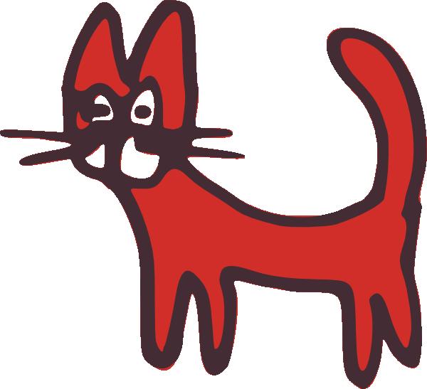 Red cat clipart jpg transparent library Red Drawn Cat Clip Art at Clker.com - vector clip art online ... jpg transparent library