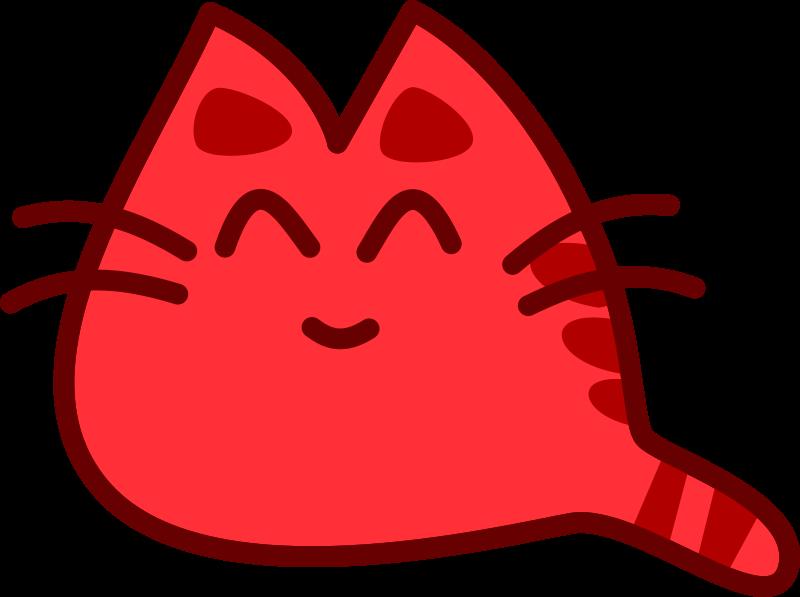 Red cat clipart clip art download Clipart - Smiling Cat clip art download