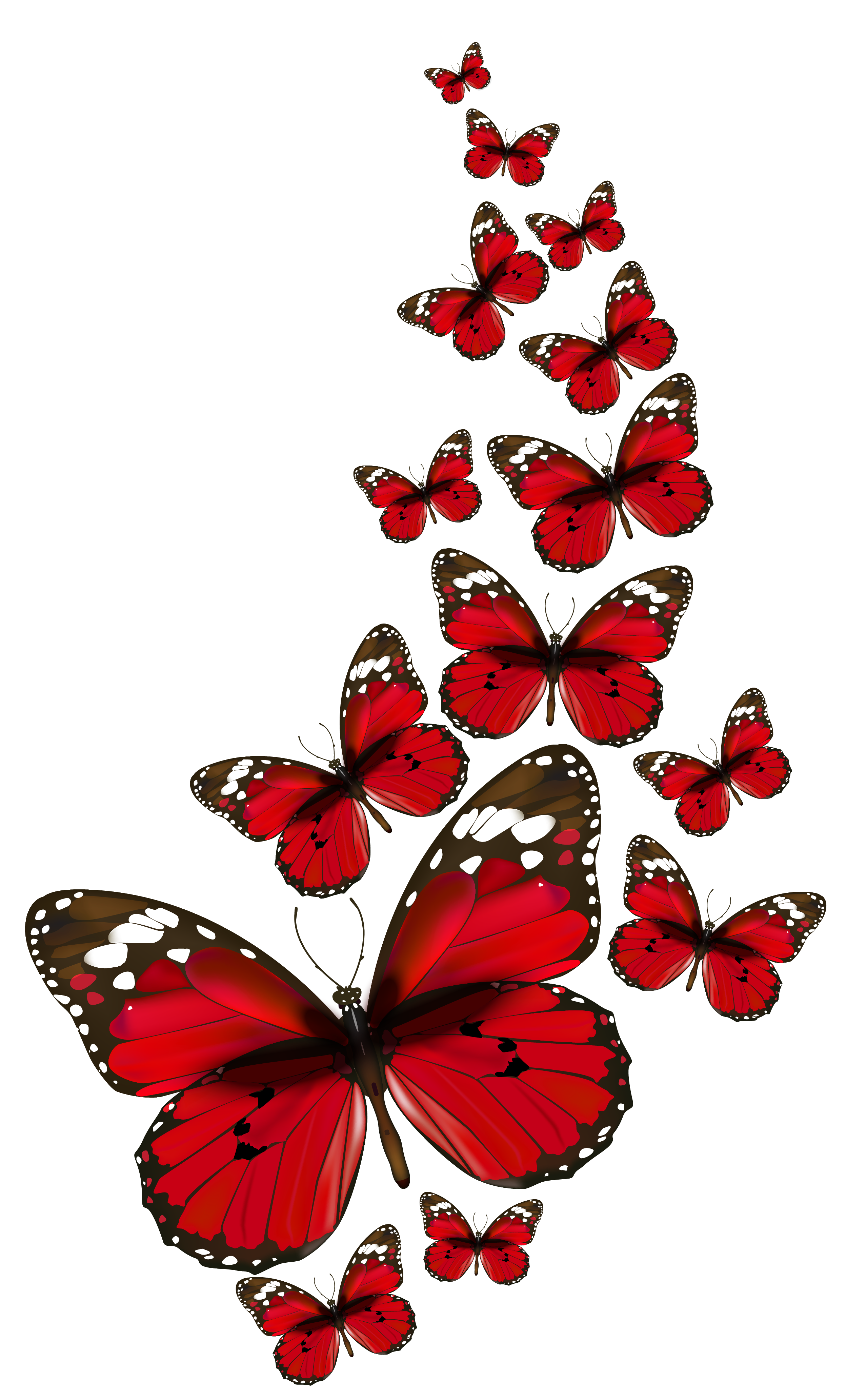 Red cat clipart picture black and white Red Butterflies Vector PNG Clipart | Tattoo's | Pinterest | Red ... picture black and white