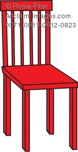 Red chair clipart