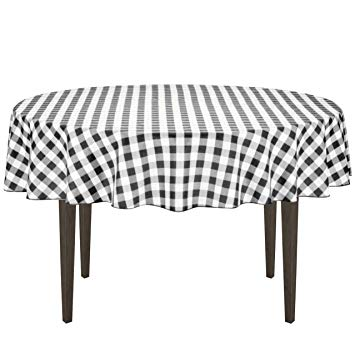 Red checkered tablecloth wine clipart jpg royalty free LinenTablecloth 70-Inch Round Polyester Tablecloth Black & White Checker jpg royalty free
