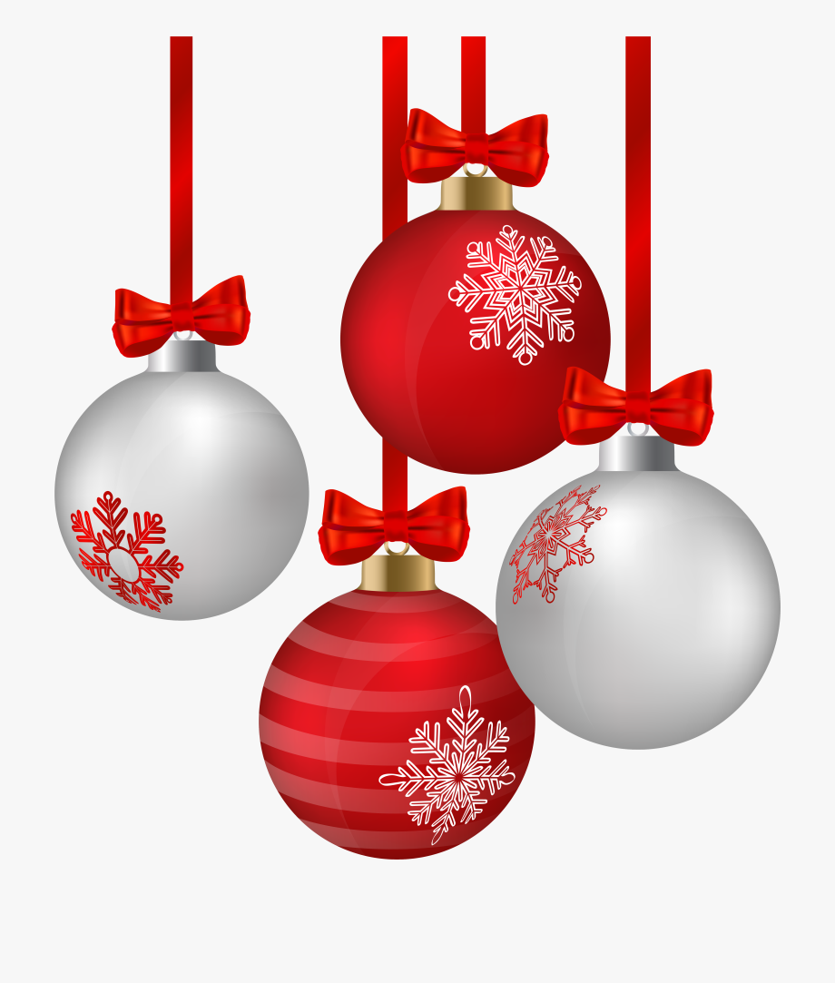 Christmas Ornaments Clip Art - Red White Christmas ... vector library library