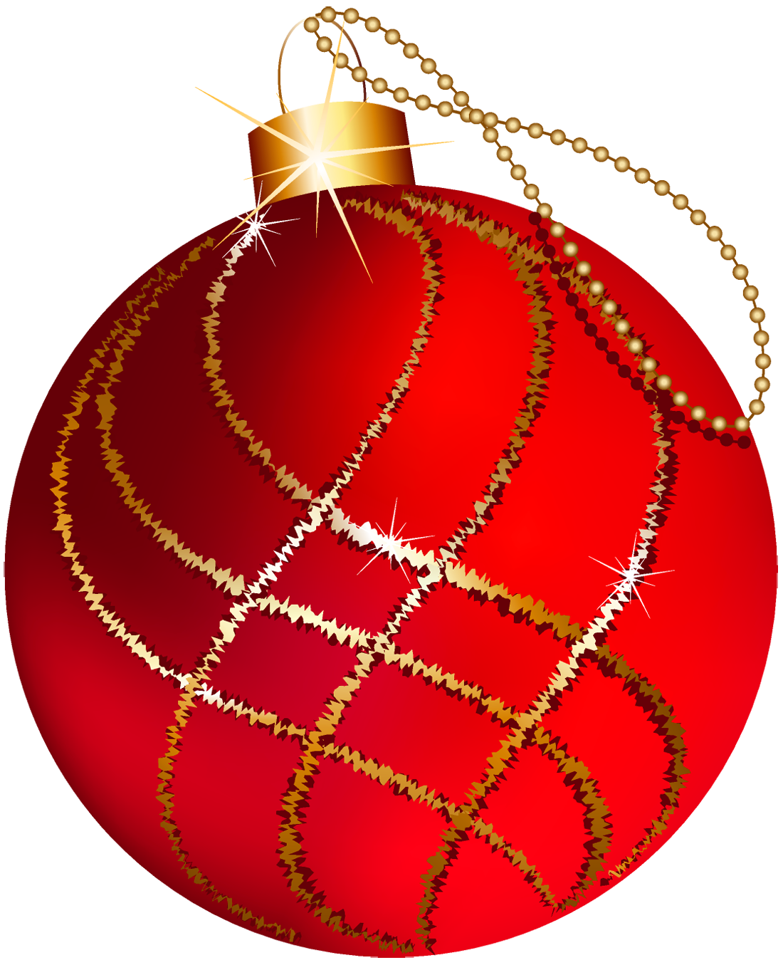 Red christmas ornament clipart clip art transparent download Transparent Christmas Large Red and Gold Ornament Clipart | Gallery ... clip art transparent download