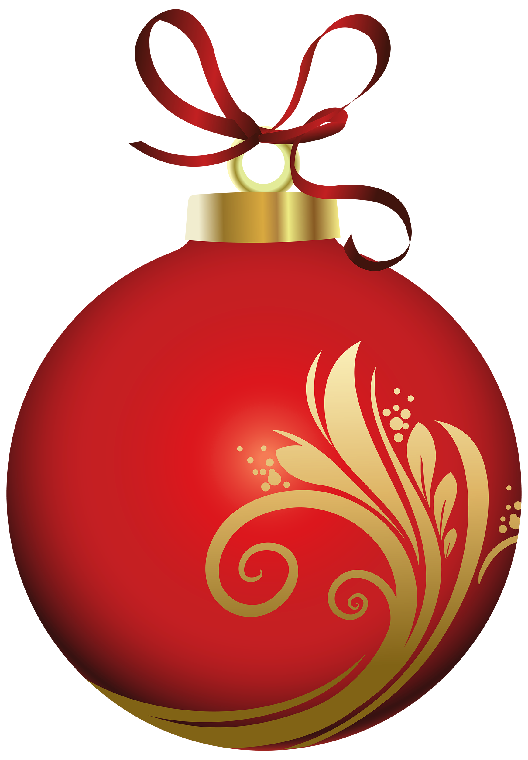 Red christmas ornament clipart image black and white library Red Christmas Ball with Decoration PNG Clipart - Best WEB Clipart image black and white library