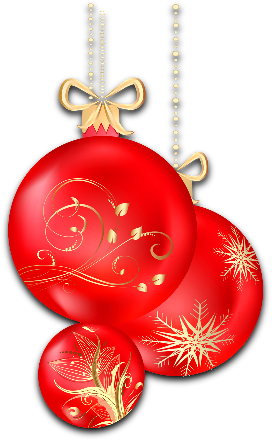 Red christmas ornament clipart clip art free download Christmas Transparent Red Ornaments Clipart | Gallery Yopriceville ... clip art free download