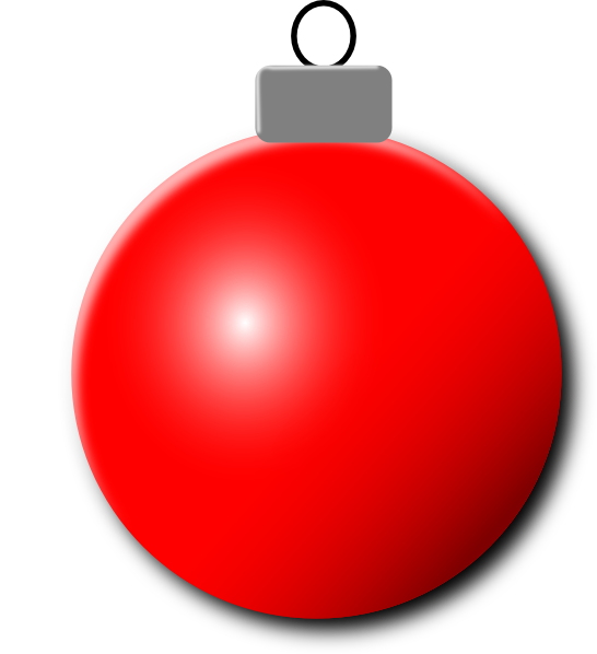 Red christmas ornaments clipart jpg free library Red Christmas Ornament Clip Art at Clker.com - vector clip art ... jpg free library