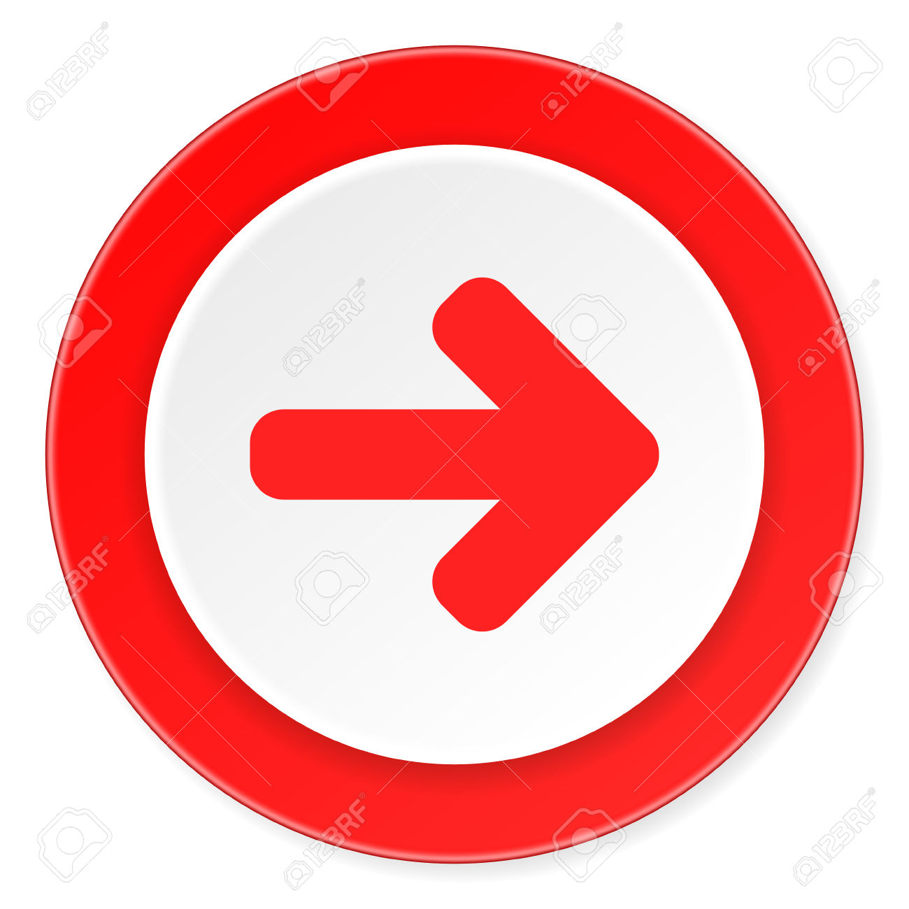 Red circle arrow clipart picture free stock Right Arrow Red Circle 3d Modern Design Flat Icon On White ... picture free stock