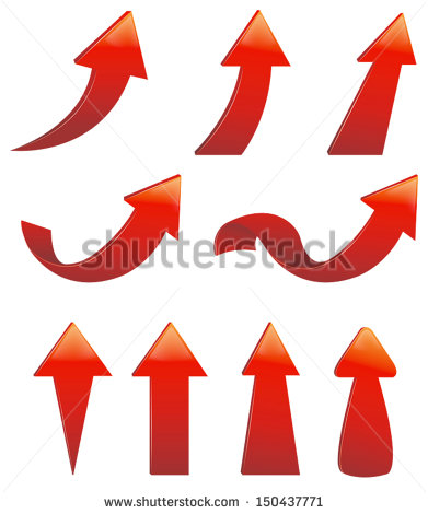 Red circle arrow clipart clip art freeuse Curved Arrow Stock Images, Royalty-Free Images & Vectors ... clip art freeuse