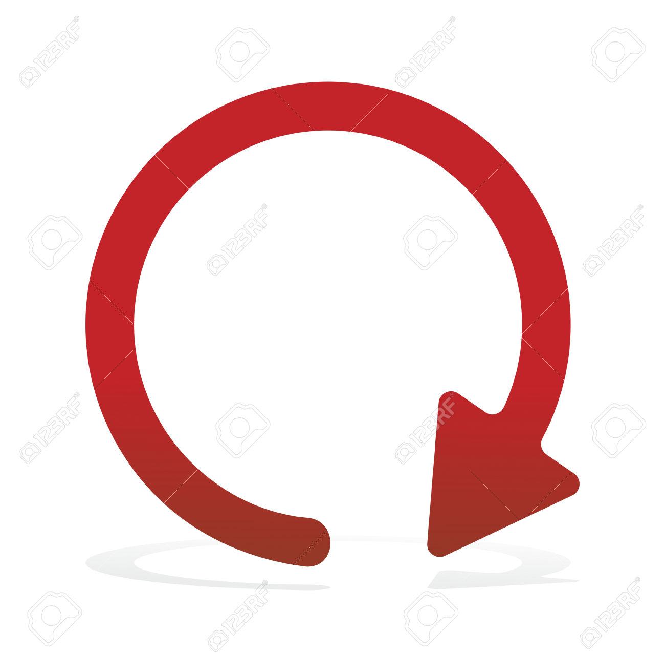 Red circle arrow clipart clip art royalty free stock Red, Circular Arrow Isolated On White Surface Stock Photo, Picture ... clip art royalty free stock