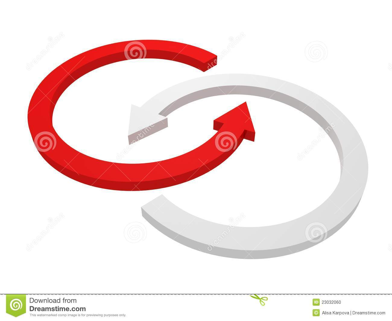 Red circle arrow clipart png download Rotate Circle Red And White Arrows On White Stock Photo - Image ... png download