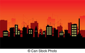 Red city clipart image transparent stock City street night Vector Clipart EPS Images. 6,096 City ... image transparent stock