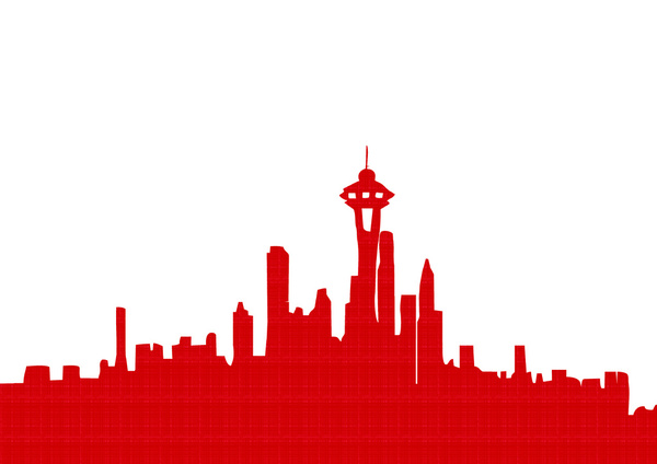Red city clipart clip art royalty free library Free Seattle Skyline Outline, Download Free Clip Art, Free ... clip art royalty free library