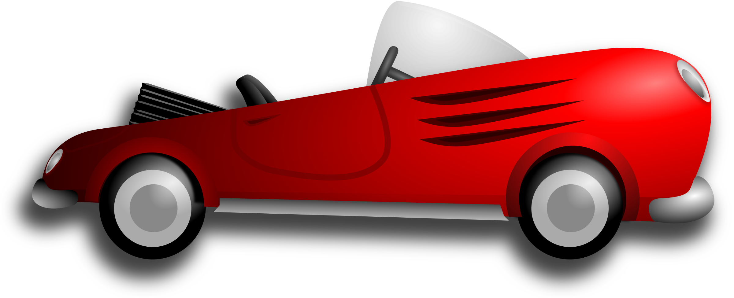 Red classic car clipart graphic stock Clipart - Classic Retro Sport Car graphic stock