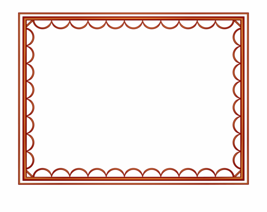 Red clipart border vector transparent download Pix For Red Border Png - Border Design Color Red Free PNG ... vector transparent download