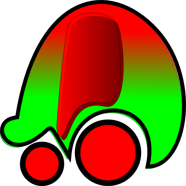 Red clipart car image free stock Red Green Car Icon Clip Art at Clker.com - vector clip art online ... image free stock