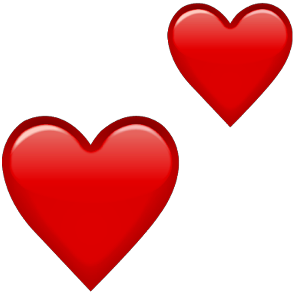 Red clipart heart clip freeuse stock Emoji Red Hearts Png Double clip freeuse stock