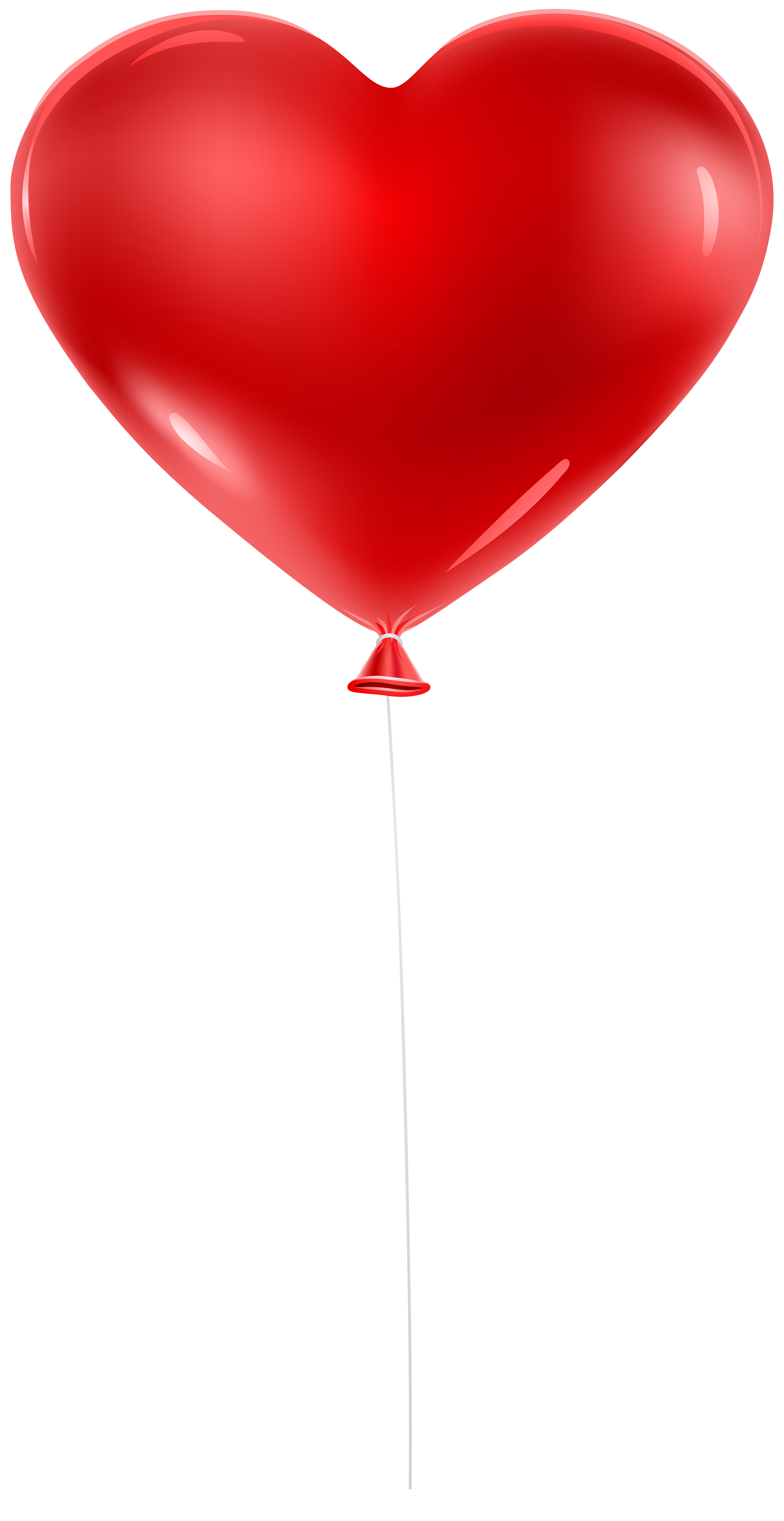 Red clipart heart graphic transparent library Red Balloon Heart Transparent Clip Art | Gallery Yopriceville ... graphic transparent library