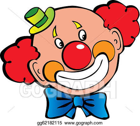 Red clown nose clipart picture freeuse Vector Illustration - Clown. EPS Clipart gg62182115 - GoGraph picture freeuse